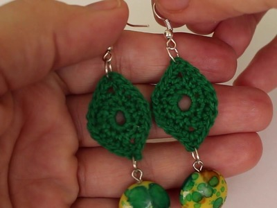 Pendientes a Ganchillo.  Crochet Earrings .cucaditasdesaluta