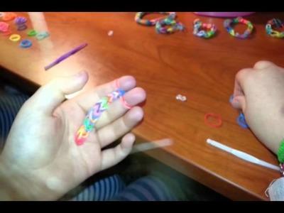 Pulseras de Gomas de Colores. Como hacerlas.