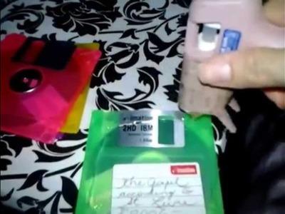 Reciclaje: Maletín.bolso de diskettes