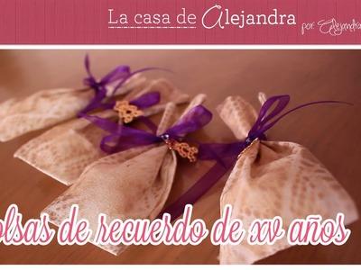 Recuerdos para Fiesta de XV años DIY Alejandra Coghlan