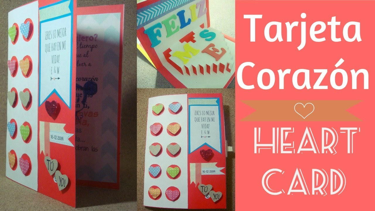 Tarjeta Corazón. Heart Card. (San Valentin)