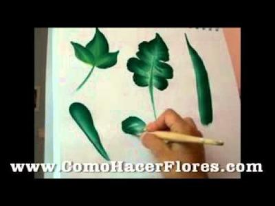 Tipos de hojas para plantas de como pintar flores