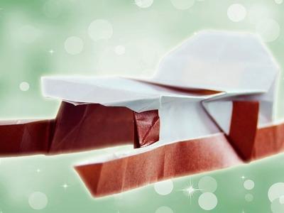 Trineo de Navidad. Papiroflexia para las navidades