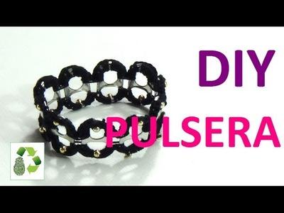 109. DIY PULSERA (RECICLAJE DE ANILLAS DE LATAS DE BEBIDA)