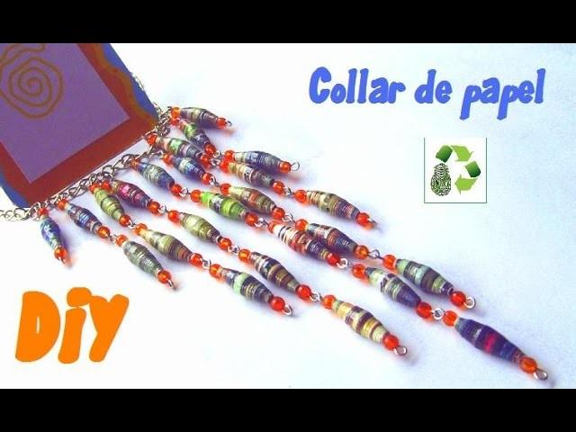 52. DIY CUENTAS DE PAPEL-COLLAR (RECICLAJE DE PAPEL)