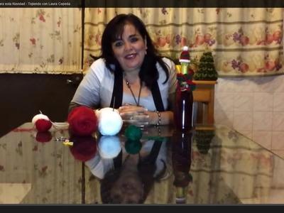 Cómo adornar las botellas para esta Navidad - Tejiendo con Laura Cepeda