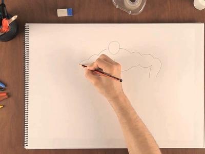 Cómo dibujar un hombre musculoso : Aprende a dibujar como un profesional