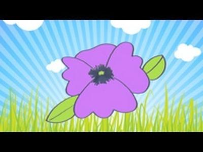 Cómo dibujar una violeta