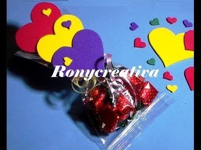 COMO HACER CORAZONES DE FOMI O GOMA EVA. CANDYS HEART DIY