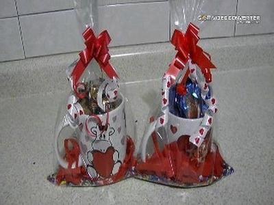 COMO HACER TAZA CON CHOCOLATES PARA REGALAR EN SAN VALENTIN