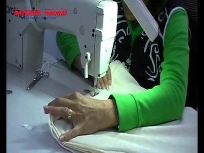 Como hacer un cojín con cordón. Galerias Madrid
