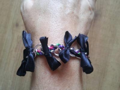 Cómo hacer una pulsera de cadena, cintas y lazos  | facilisimo.com
