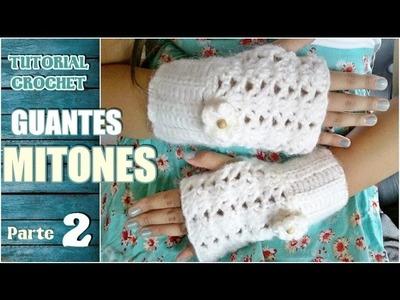 Como tejer mitones, guantes sin dedos a crochet, paso a paso (2.2)