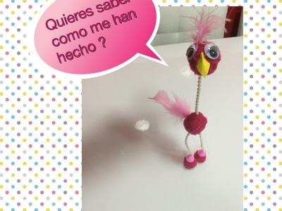 DIY Marioneta con pompones manualidad para niños