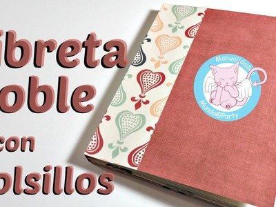 Libreta doble con Bolsillos | Scrapbooking | Mundo@Party