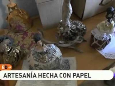 OLIVER VICARIO EN ESPAÑA DIRECTO. ARTESANIA EN PAPEL