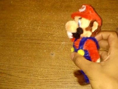 Personajes de Mario bros hechos con limpiapipas