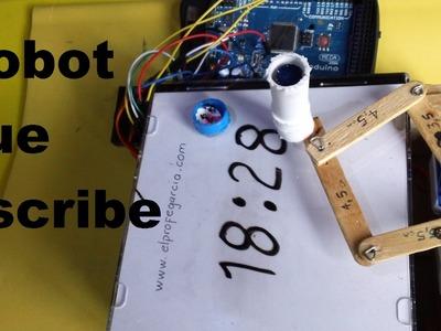 Robot reloj, escribe la hora (como se hace) Tutorial