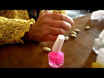 Traba o bincha para el cabello con semillas