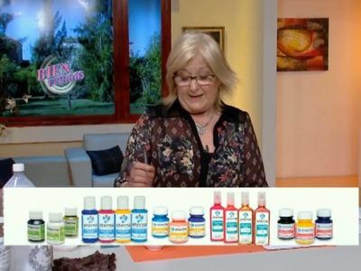Transferencia sobre frascos - Mónica Godfroit en Bienvenidas Tv