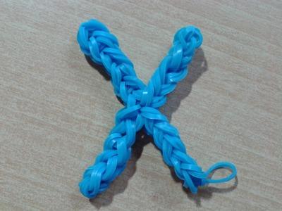 ♥ Tutorial: letra X hecha con gomitas (sin telar) ♥