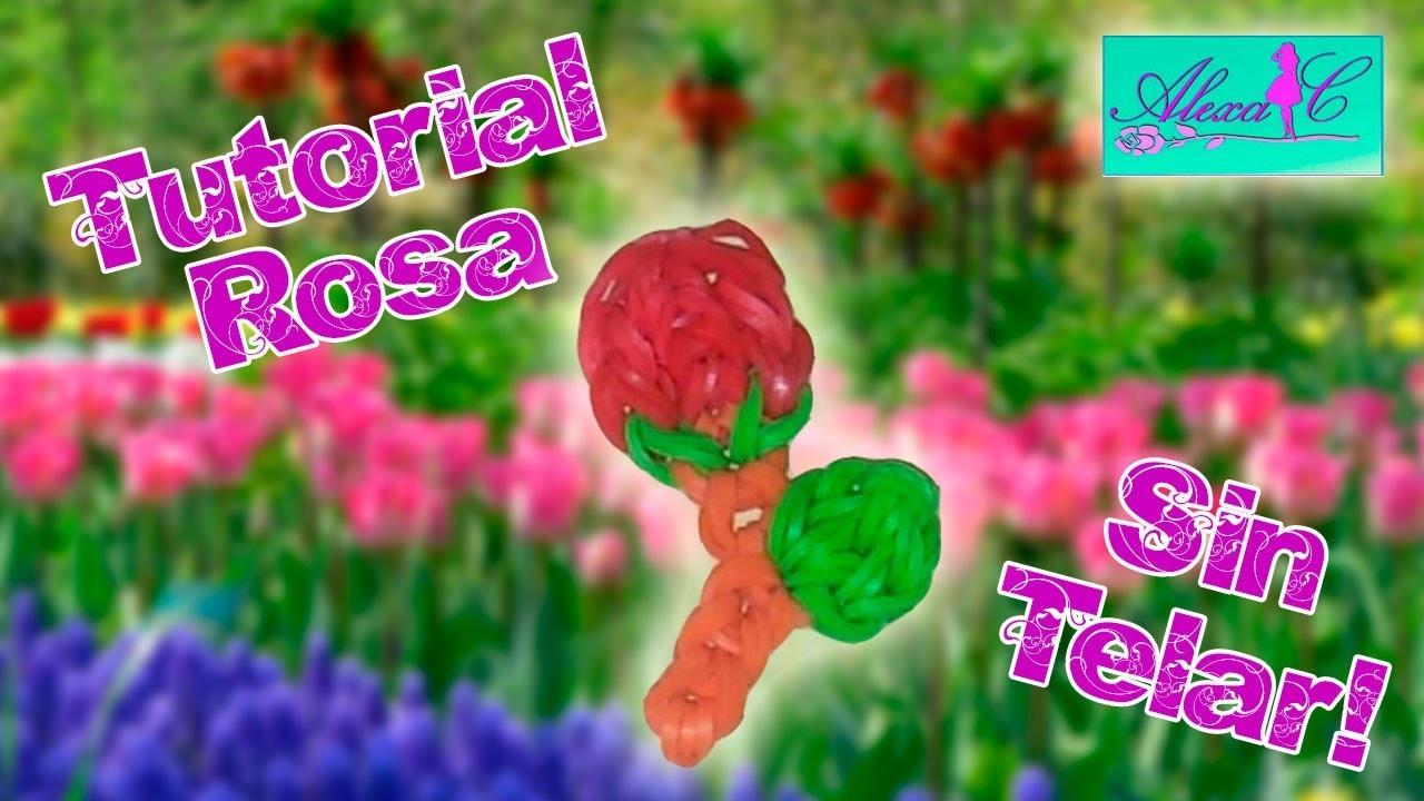 ♥ Tutorial: Rosa de gomitas (sin telar) {especial Día de la Madre} ♥