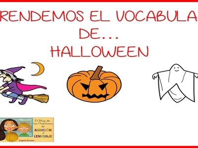 Aprendemos el vocabulario de Halloween