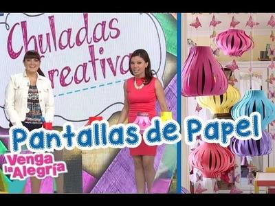 Chuladas Creativas :: Pantallasde de Papel con Tabata Jalil y Sammily