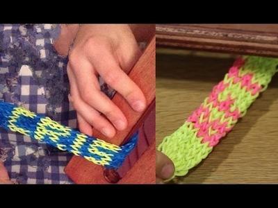 Cómo hacer pulsera de gomitas con nombre. Parte 2