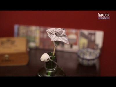 Cómo hacer rosas de papel periódico