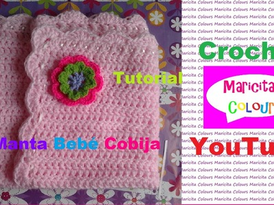 "Crochet Colcha Bebé Manta ""Maricita"" Cobija (Parte 2) por Maricita Colours"