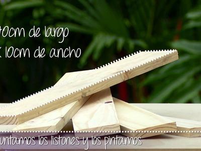 Diseña un banco de madera para tus espacios exteriores