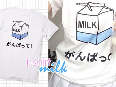 DIY: Camisa Leche | Milk T-shirt