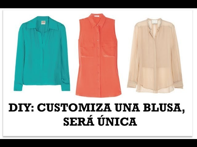 DIY Customiza una blusa