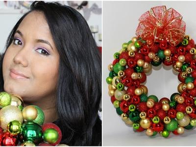 Especial de navidad: Como hacer una corona navideña diferente DIY- KATHY GAMEZ