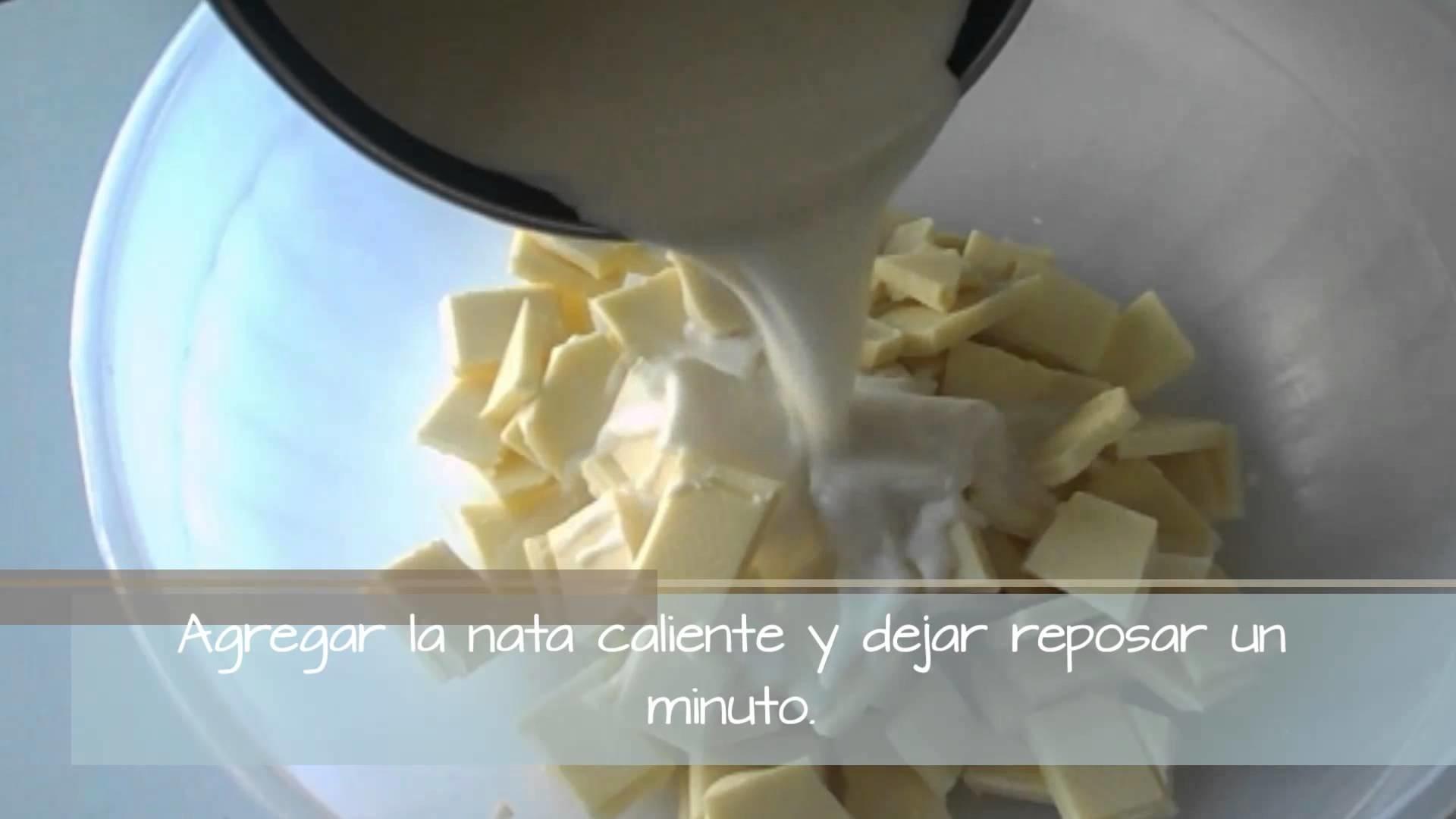 Ganache de Chocolate Blanco!
