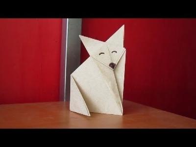 Hacer un lindo zorro de Origami