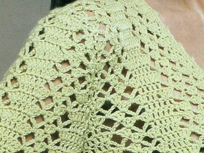 Ligero suéter calado abierto a crochet