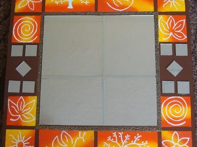 Manualidades: Espejo Con Textura  De Trupan - By: