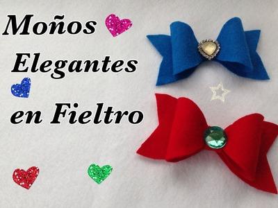 MOÑOS  ELEGANTES EN FIELTRO .-  FELT BOW .