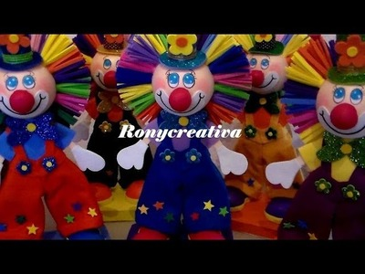PAYASOS DE FOMI EN 3D. FOMI CLOWN
