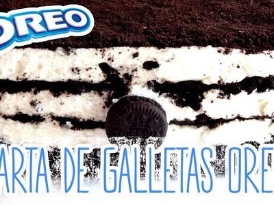 Receta: Tarta de galletas Oreo casera -- Cheesecake