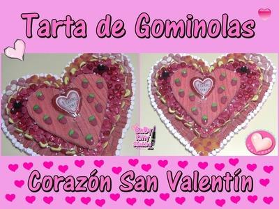 Tarta de Gominolas - Corazón San Valentín