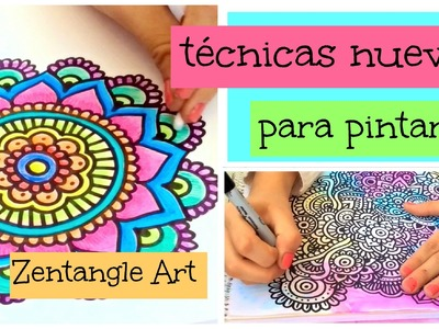 Técnicas para pintar Zentangle Art | DIY