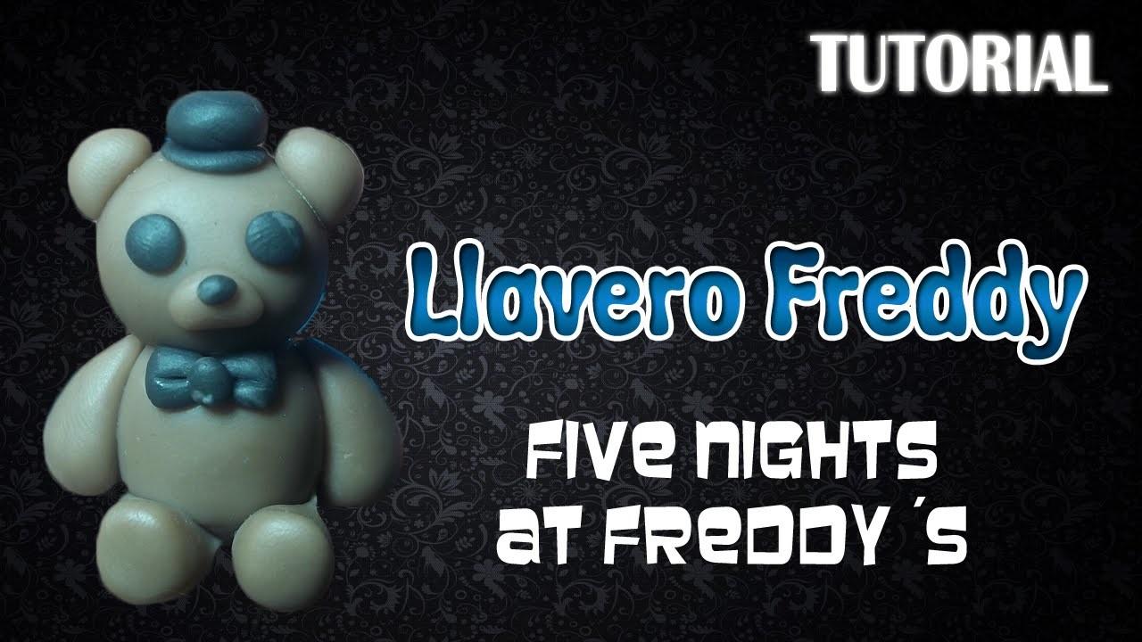 Tutorial Llavero Freddy en Porcelana Fria. FNaF. Freddy Charm Polymer Clay Tutorial