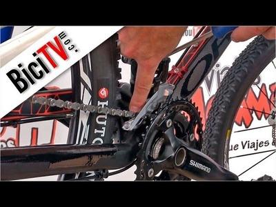 Como ajustar un desviador delantero de bicicleta