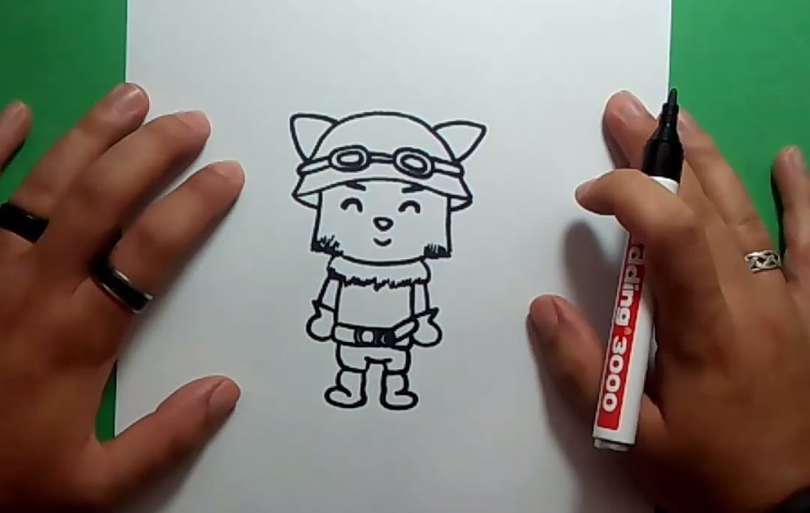 Como dibujar a Teemo paso a paso - League of Legends | How to draw Teemo - League of Legends
