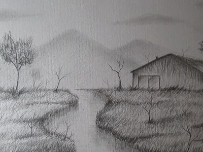 Cómo dibujar un sencillo paisaje a lápiz paso a paso, BIEN EXPLICADO