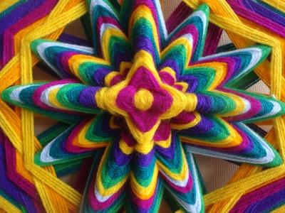 Como hacer puntas en mandalas tejidos