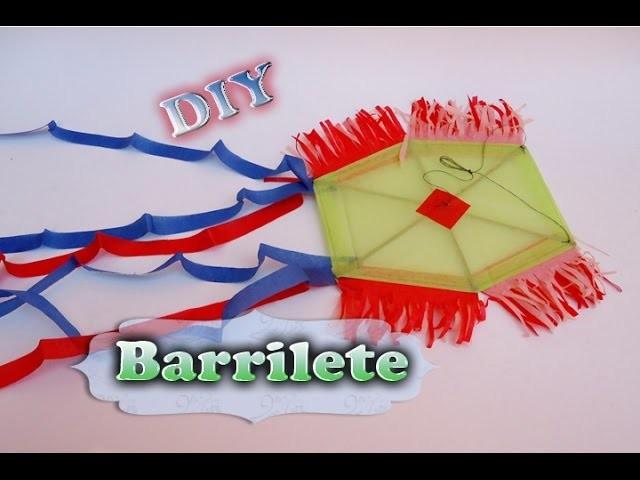Como Hacer un Barrilete, cometa o papalote | DIY | manualidades para niñ@s